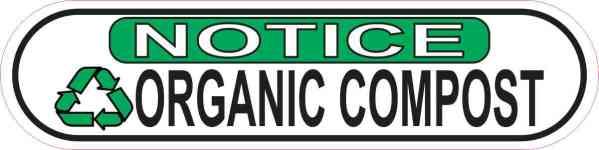 Oblong Notice Organic Compost Sticker