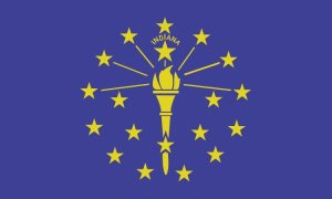 Indiana State Flag Magnet