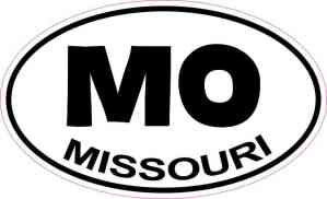 Oval MO Missouri Sticker