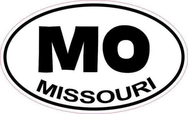 Oval MO Missouri Sticker