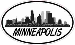 Oval Minneapolis Skyline Sticker