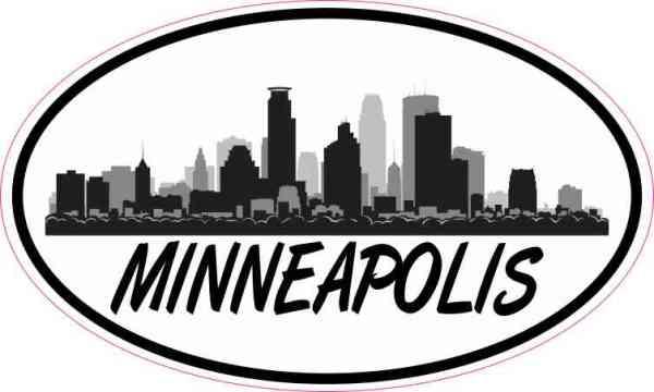 Oval Minneapolis Skyline Sticker
