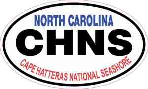 Oval Cape Hatteras National Seashore Sticker