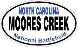 Oval Moores Creek National Battlefield Sticker