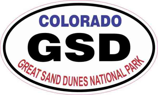 Oval Great Sand Dunes National Park Sticker