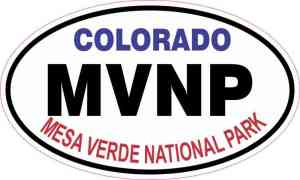 Oval Mesa Verde National Park Sticker