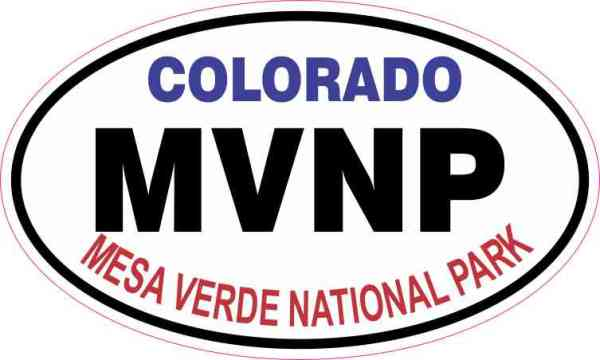 Oval Mesa Verde National Park Sticker