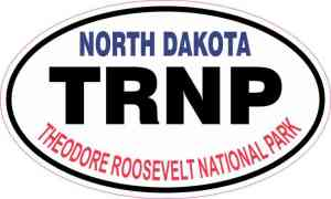 Oval Theodore Roosevelt National Park Sticker