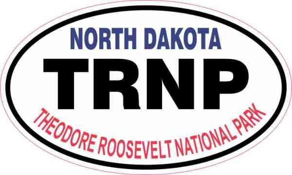 Oval Theodore Roosevelt National Park Sticker