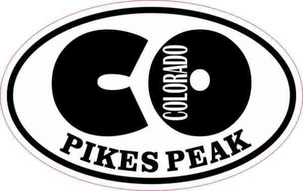 Oval CO Colorado Pikes Peak Sticker