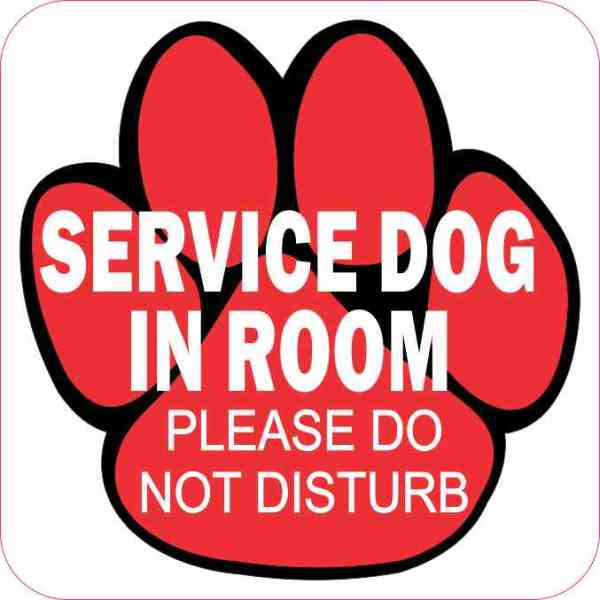 Service Dog in Room Magnet