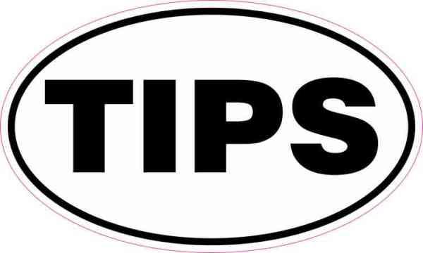 Oval Tips Sticker