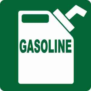 Green Gasoline Sticker