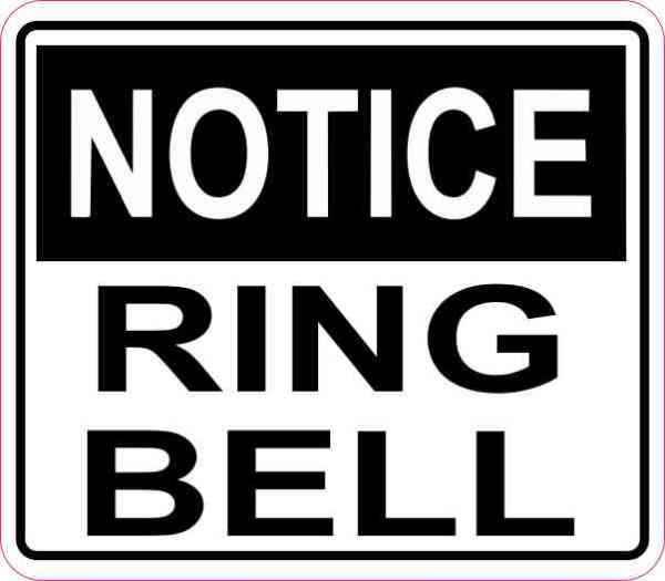 Notice Ring Bell Magnet