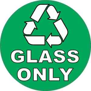 Glass Only Recycling Sticker