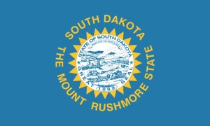 South Dakota State Flag Magnet