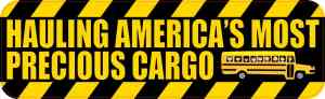 School Bus Precious Cargo Bumper Sticker