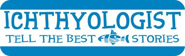Blue Ichthyologist Magnet