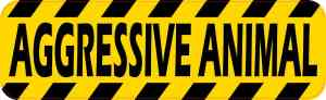 Aggressive Animal Sticker