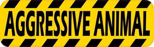 Aggressive Animal Sticker