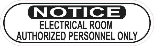 Authorized Personnel Only Electrical Room Sticker