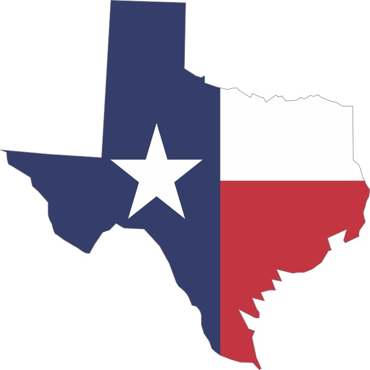 Die Cut Texas State Flag Sticker