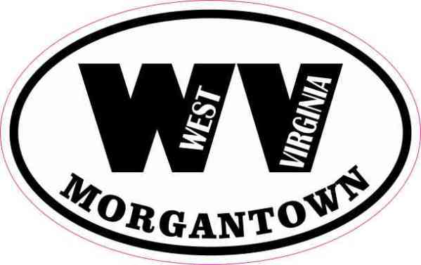 Oval WV Morgantown West Virginia Sticker