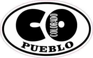 Oval CO Pueblo Colorado Sticker