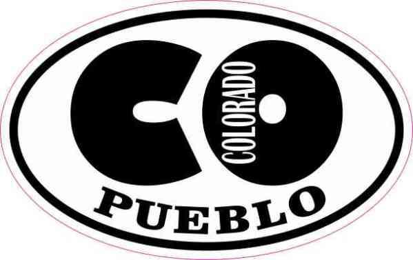 Oval CO Pueblo Colorado Sticker