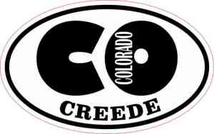 Oval CO Creede Colorado Sticker