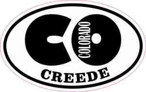 Oval CO Creede Colorado Sticker