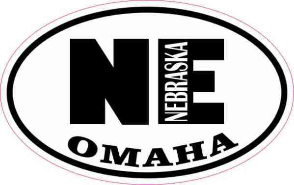 Oval NE Omaha Nebraska Sticker
