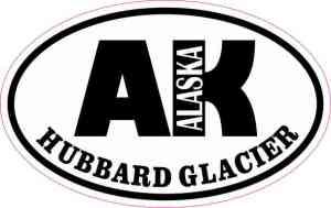 Oval AK Hubbard Glacier Sticker
