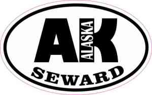 Oval AK Seward Alaska Sticker