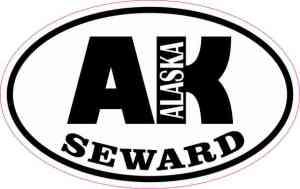 Oval AK Seward Alaska Sticker
