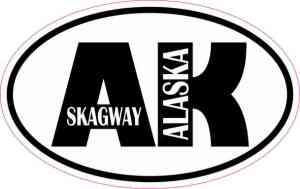 Oval AK Skagway Sticker