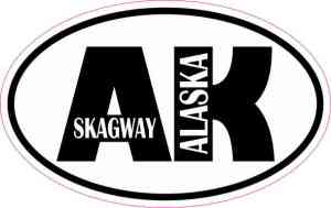 Oval AK Skagway Sticker