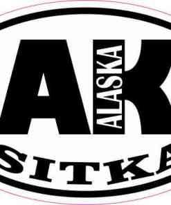 Oval AK Sitka Alaska Sticker