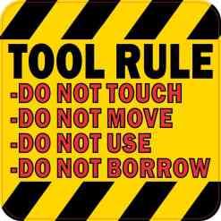 Tool Rule Sticker