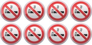 No Smoking Stickers