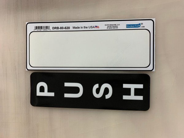 Double Sided Pull Push Sticker