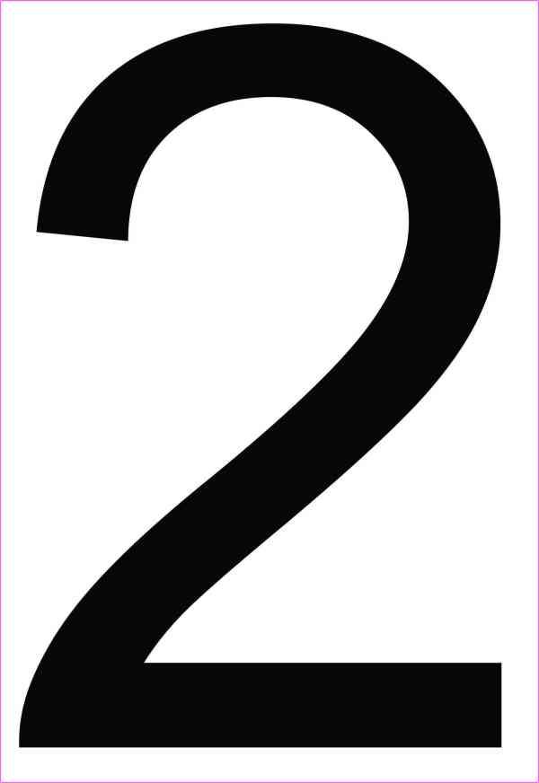 Address Number 2 Magnet