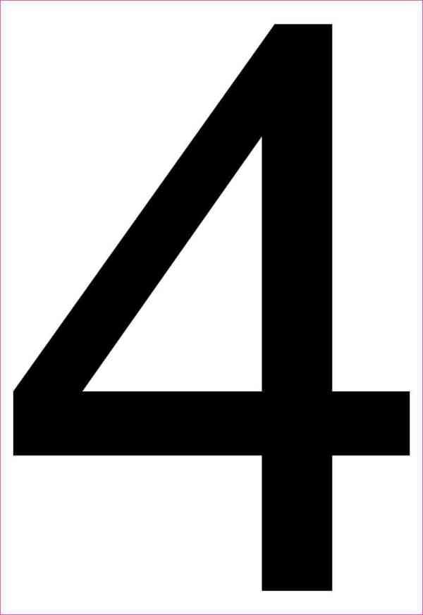 Address Number 4 Sticker