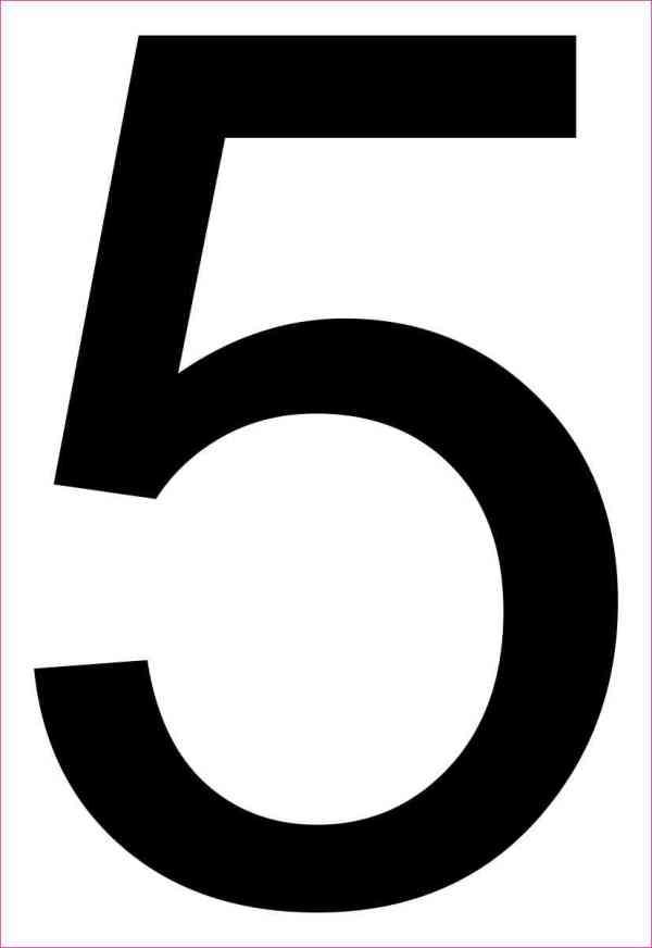 Address Number 5 Magnet