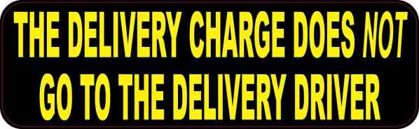 Delivery Charge Does Not Go to Driver Magnet