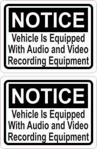 Audio and Video Recording Permanent Vinyl Stickers