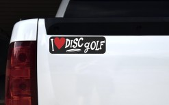 I Love Disc Golf Sticker