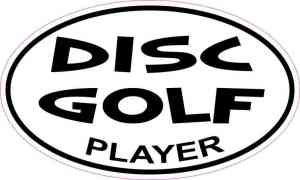 Oval Disc Golf Player Sticker