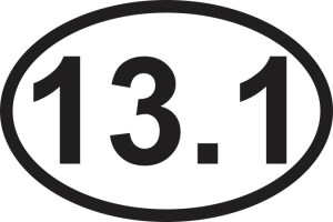 13.1 Mile Sticker