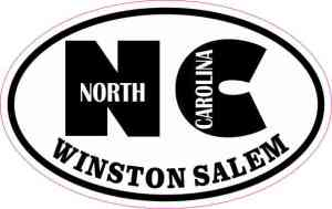 Oval NC Winston Salem Sticker
